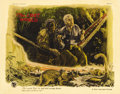 "Movie Posters:Science Fiction, The Lost World (First National, 1925). Lobby Card (11"" X 14"").Willis O'Brien's dinosaur epic was an amazing bit of stop-mot..."