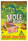 "Movie Posters:Science Fiction, The Mole People (Universal International, 1956). Australian OneSheet (27"" X 40""). Dr. John Bentley (John Agar) leads a grou..."