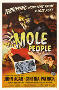 "Movie Posters:Science Fiction, The Mole People (Universal International, 1956). One Sheet (27"" X41""). John Agar leads an expedition deep underground and f..."