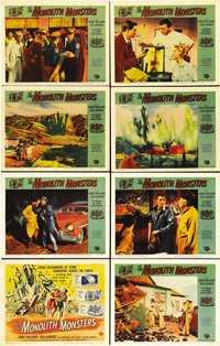 "The Monolith Monsters (Universal International, 1957). Lobby Card Set of 8 (11"" X 14""). Skyscraper-sized monol..."