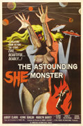 "Movie Posters:Science Fiction, The Astounding She Monster (American International, 1958). Poster(40"" X 60""). Ronnie Ashcroft, an editor-turned-producer, m..."