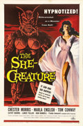 "Movie Posters:Science Fiction, The She-Creature (American International, 1956). One Sheet (27"" X41""). Chester Morris stars as the evil hypnotist Dr. Lomba..."