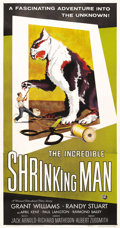 "Movie Posters:Science Fiction, The Incredible Shrinking Man (Universal International, 1957). ThreeSheet (41"" X 81""). This tale of an ordinary man who cont..."