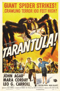 "Movie Posters:Science Fiction, Tarantula (Universal, 1955). One Sheet (27"" X 41""). Classic 1950sscience fiction thriller of an experiment gone awry. Starr..."