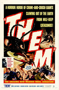 "Them! (Warner Brothers, 1954). One Sheet (27"" X 41""). When you think about the ""classics"" of the 195..."