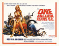 "Movie Posters:Science Fiction, One Million Years B.C. (20th Century Fox, 1966). Half Sheet (22"" X 28""). Raquel Welch became the top pin-up of the 1960s bas..."