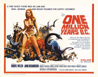 "One Million Years B.C. (20th Century Fox, 1966). Half Sheet (22"" X 28""). Raquel Welch became the top pin-up of..."