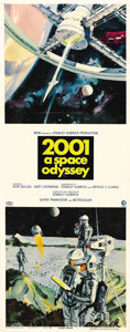 "Movie Posters:Science Fiction, 2001: A Space Odyssey (MGM, 1968). Insert (14"" X 36""). Since MGMproduced a large amount of promotional material for this fi..."