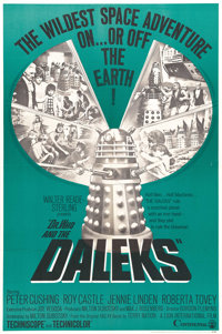 """Dr. Who and the Daleks (Continental, 1966). One Sheet (27"""" X 41""""). The """"Doctor Who"""" TV series was pr..."""