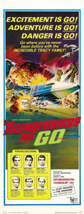 "Movie Posters:Science Fiction, Thunderbirds Are Go (United Artists, 1968). Insert (14"" X 36"").Shot in Supermarionation, this classic of the animated scree..."