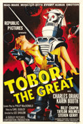 """Movie Posters:Science Fiction, Tobor the Great (Republic, 1954). One Sheet (27"""" X 41""""). For fansof the science fiction genre, it doesn't get any better th..."""
