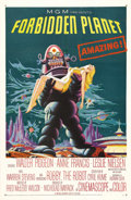 "Movie Posters:Science Fiction, Forbidden Planet (MGM, 1956). One Sheet (27"" X 41""). MGM's first big-budget science fiction film, ""Forbidden Planet,"" combin..."