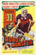 "Movie Posters:Science Fiction, Robot Monster (Astor Pictures, 1953). One Sheet (27"" X 41""). Onmost critics' ""Worst Films"" list, this movie has become a cu..."