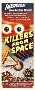"Movie Posters:Science Fiction, Killers From Space (RKO, 1954). Insert (14"" X 36""). Directed by W.Lee Wilder, the brother of the more celebrated Billy Wild..."