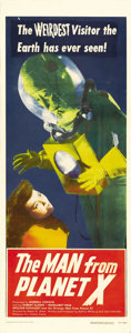 "Movie Posters:Science Fiction, The Man from Planet X (United Artists, 1951). Insert (14"" X 36"").Edgar G. Ulmer's ultimate low-budget sci-fi thriller has a..."