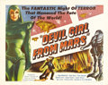 "Movie Posters:Science Fiction, Devil Girl From Mars (Spartan, 1955). Half Sheet (22"" X 28""). Thislow-budget British-made science fiction film was adapted ..."