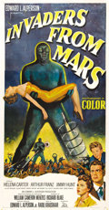 "Movie Posters:Science Fiction, Invaders From Mars (20th Century Fox, 1953). Three Sheet (41"" X81""). One of the top classic 50's science fiction films. Thi..."