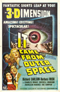 "Movie Posters:Science Fiction, It Came From Outer Space (Universal, 1953). One Sheet (27"" X 41"").Spectacular graphics for the 3-D release of the Jack Arno..."