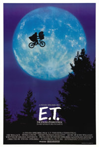 "E.T. The Extra-Terrestrial (Universal, 1982). One Sheet (27"" X 41""). This magical poster uses the famous image..."