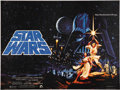 "Movie Posters:Science Fiction, Star Wars (20th Century Fox, 1977). British Quad (30"" X 40""). LukeSkywalker and Princess Leia are featured on this original..."