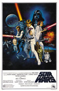 "Movie Posters:Science Fiction, Star Wars (20th Century Fox, 1977). One Sheet (27"" X 41"")International Style C. This was the poster that Fox released tosh..."