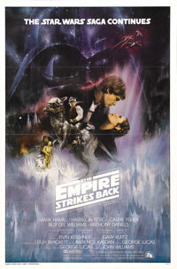 "The Empire Strikes Back (20th Century Fox, 1980). One Sheet (27"" X 41"") Style A. Harrison Ford, Carrie Fisher..."