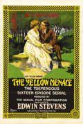 "Movie Posters:Action, The Yellow Menace (Unity Sales, 1916). One Sheet (27"" X 41"")Chapter 10: ""The Yellow Shadow."" Produced by low-budget filmmak..."