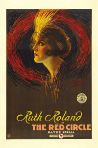 "The Red Circle (Pathe Exchange Inc., 1915). One Sheet (27"" X 41""). Ruth Roland, in the earliest days of silent..."