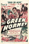 "Movie Posters:Serial, The Green Hornet (Universal, 1940). One Sheet (27"" X 41""). Chapter8: ""Dead or Alive."" Britt Reid (Gordon Jones), a distant ..."