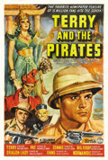 "Movie Posters:Action, Terry and the Pirates (Columbia, 1940). One Sheet (27"" X 41"").Based on the 1934 comic strip by Milton Caniff, this serial w..."