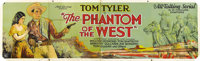 """The Phantom of the West (Mascot, 1931). Banner (36"""" X 119""""). Tom Tyler stars in this serial as a cowboy out to..."""