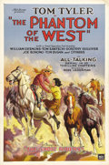 "Movie Posters:Serial, The Phantom of the West (Mascot, 1931). One Sheet (27"" X 41"")Chapter 1: ""The Ghost Riders."" This Mascot Pictures ""All-Talki..."