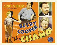 "The Champ (MGM, 1931). Half Sheet (22"" X 28""). Wallace Beery gives a masterful performance in this tearjerker..."