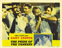 """Pride of the Yankees (RKO, 1942). Lobby Card (11"""" X 14""""). One of the greatest baseball films ever made, this c..."""