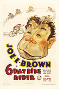 "Movie Posters:Comedy, 6 Day Bike Rider (First National, 1934). One Sheet (27"" X 41"").Winfred Simpson (Joe E. Brown), a small town man, finds hims..."