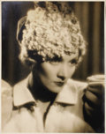 "Movie Posters:Miscellaneous, Marlene Dietrich Studio Portrait (Paramount, 1930). Still (11"" X14""). This is a beautiful silver gelatin print of Marlene D..."