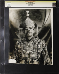 """The Mask of Fu Manchu - Culver Pictures (MGM, 1932). Still (9.5"""" X 12""""). Boris Karloff in the title role of th..."""