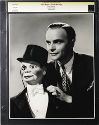 "Edgar Bergen and Charlie McCarthy - Culver Pictures (Universal, 1937). Still (11"" X 13.5""). Edgar Bergen and C..."