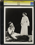 """Movie Posters:Miscellaneous, The Barbarian - Culver Pictures (MGM, 1933). Still (8"""" X 10""""). Myrna Loy applies the whip to Ramon Novarro in this dramatic ..."""