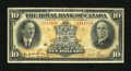 Canadian Currency: , Montreal, PQ- Royal Bank of Canada $10 Jan. 3, 1927 Charlton 630-14-08. ...