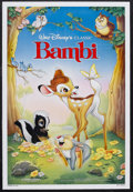 "Movie Posters:Animated, Bambi (Buena Vista, R-1988). One Sheet (27"" X 41""). Animated Fantasy. Starring the voices of Bobby Stewart, Stan Alexander, ..."