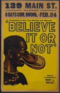 """Movie Posters:Documentary, Believe It Or Not (Unknown, 1938). Window Card (14"""" X 22"""") Exhibit Poster. Window card poster for traveling exhibition of Ro..."""