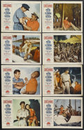 "Movie Posters:Adventure, Crosswinds (Paramount, 1951). Lobby Card Set of 8 (11"" X 14"").Adventure. Starring John Payne, Rhonda Fleming, Forrest Tucke...(Total: 8 Item)"