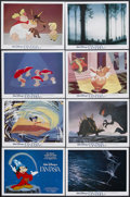 "Movie Posters:Animated, Fantasia (Buena Vista, R-1982). Lobby Card Set of 8 (11"" X 14"").Animated. Starring Leopold Stokowski and the voices of Deem...(Total: 8 Item)"