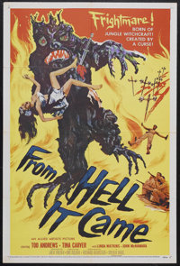 """From Hell It Came (Allied Artists, 1957). One Sheet (27"""" X 41""""). Horror. Starring Tod Andrews, Tina Carver, Li..."""