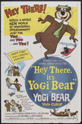 "Movie Posters:Animated, Hey There, It's Yogi Bear (Hanna-Barbera Productions, 1964). OneSheet (27"" X 41""). Animated. Starring the voices of Daws Bu..."