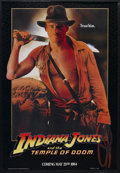 """Movie Posters:Adventure, Indiana Jones and the Temple of Doom (Paramount, 1984). One Sheet(27"""" X 41"""") Advance. Action Adventure. Starring Harrison F..."""