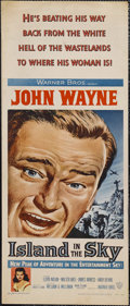 "Movie Posters:Adventure, Island in the Sky (Warner Brothers, 1953). Insert (14"" X 36"").Adventure. Starring John Wayne, Lloyd Nolan, Walter Abel, Jam..."