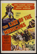 "Movie Posters:Adventure, The Last of the Mohicans (Astor, R-1951). One Sheet (27"" X 41"").Historical Drama. Starring Randolph Scott, Binnie Barnes, H..."