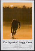 "Movie Posters:Thriller, The Legend of Boggy Creek (Howco, 1973). One Sheet (27"" X 41""). Thriller. Starring Vern Stierman, Chuck Pierce, William Stum..."